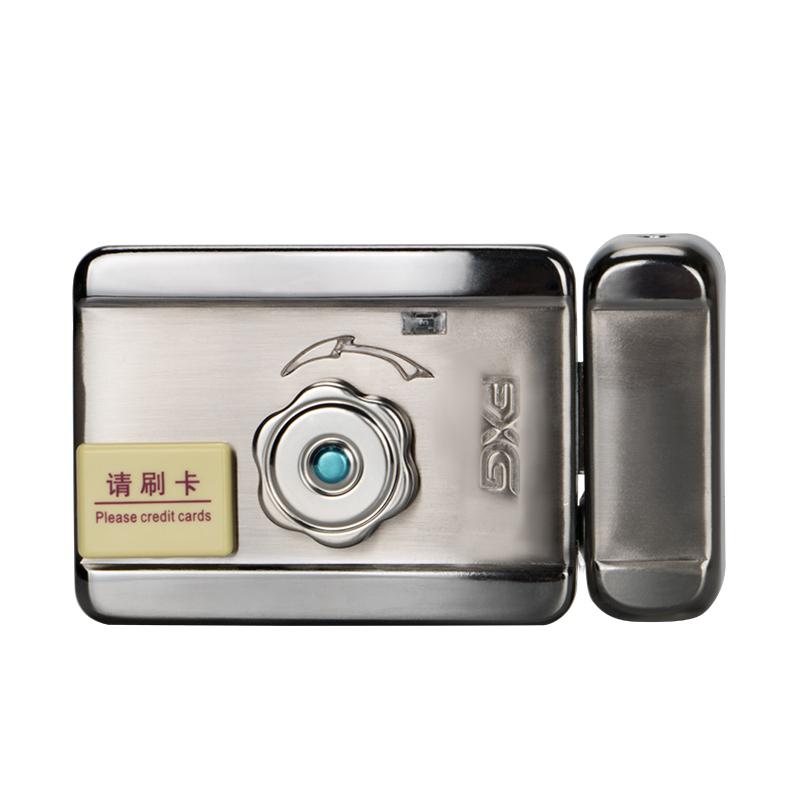 门禁系统电控锁电子锁家用防复制感应刷卡锁出租屋一体门锁防盗锁