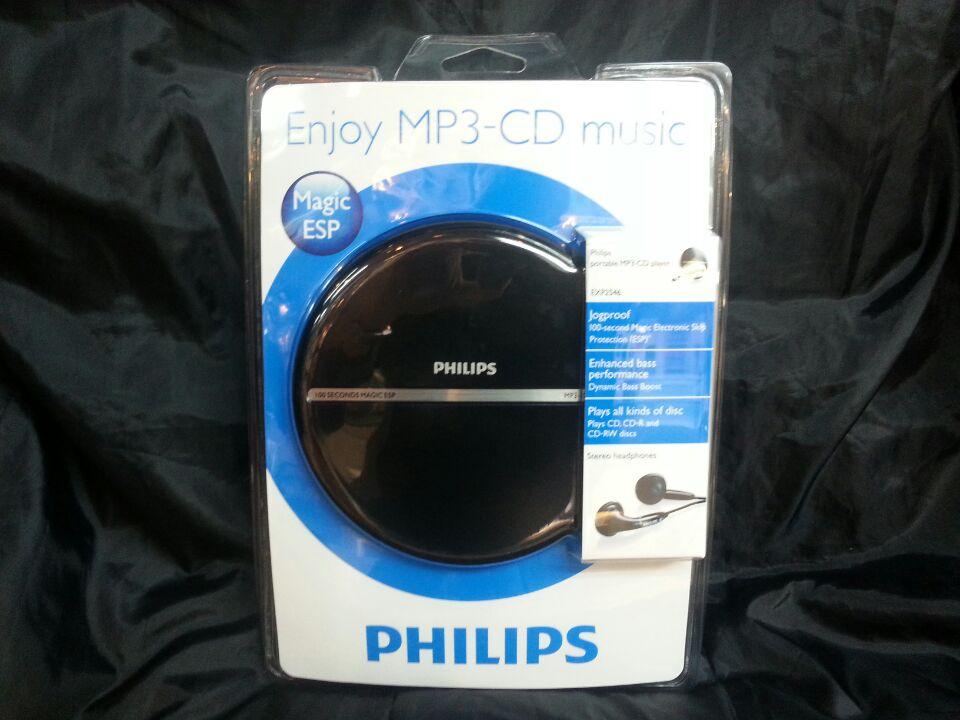 包邮正品飞利浦philips超薄款CD随身听播放器MP3英语CD机送电源
