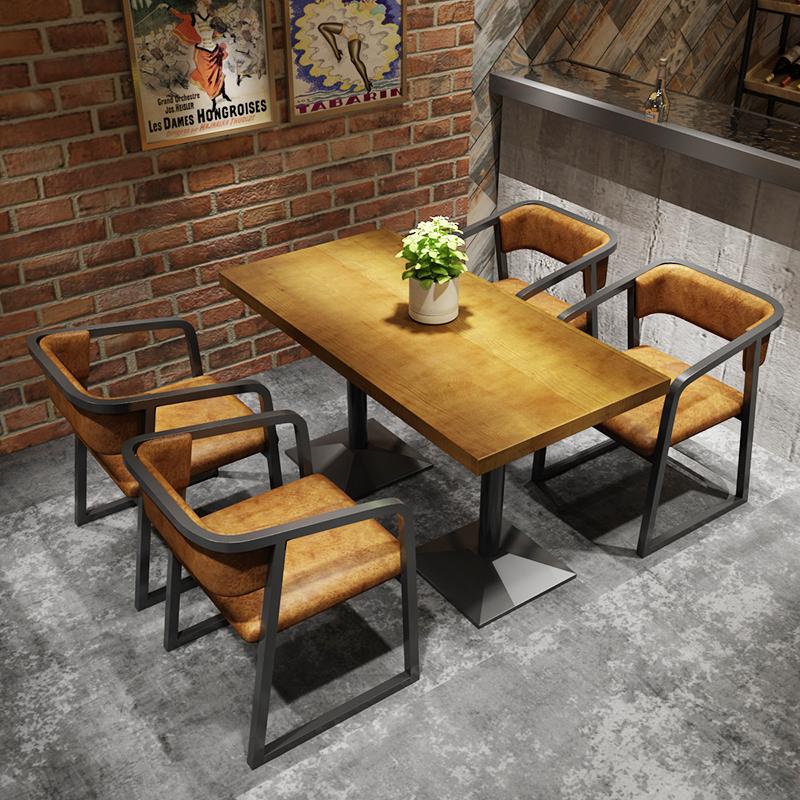 西餐厅桌椅 一桌四椅