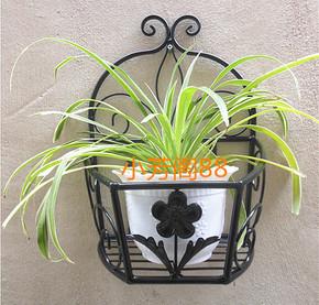 阳台客厅壁挂式花盆架  挂壁吊兰绿萝花篮架子  挂墙上 墙壁花架
