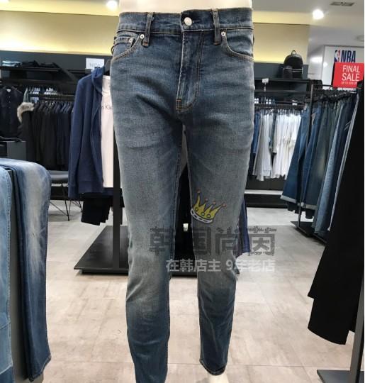 【韩国直达】CK 18秋男士休闲直筒牛仔裤 J310611  8,新款ck牛仔裤