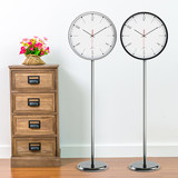 Simple digital standing clock living room creative fashion floor-to-ceiling clock Nordic style silent station clock clock