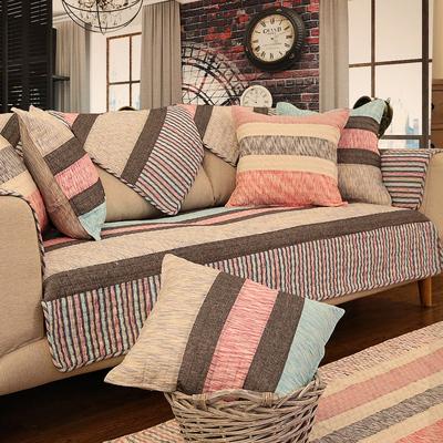 沙发垫简约现代客厅组合四季通用全棉布艺防滑坐垫套夏季沙发罩巾
