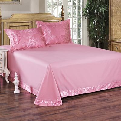 双人纯棉床单单件全棉布料冬季纯色斜纹大炕单被单1.51.82.0简约