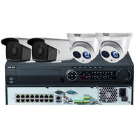 Hikvision monitor HD set 5 million network poe surveillance camera equipment system home outdoor