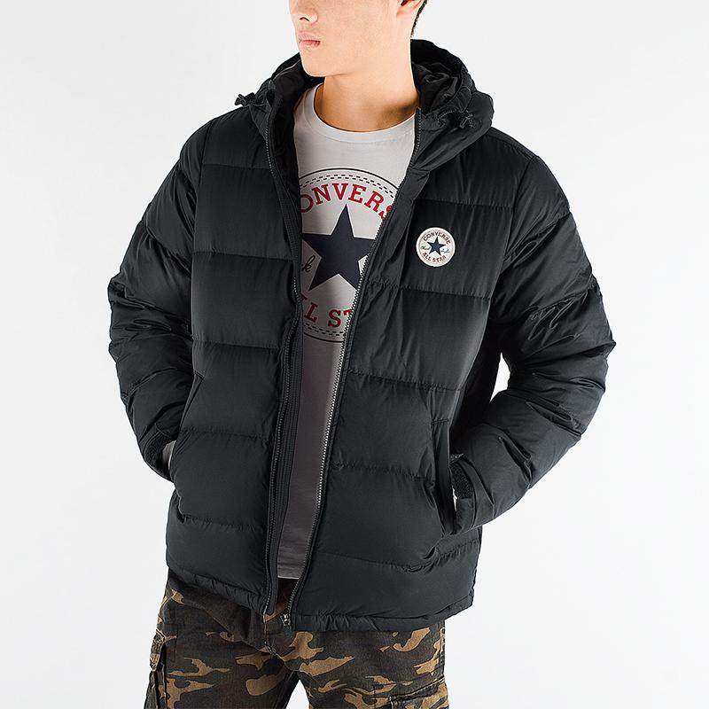 匡威男装冬季新款连帽运动服休闲外套保暖厚羽绒服夹克10004603