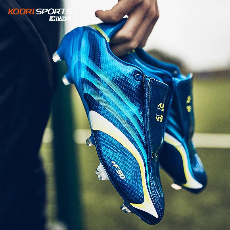 阿迪达斯F50 FG钉长钉天然草低帮复刻魔术贴足球鞋男EE8428