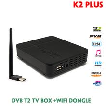New DVB T2 K2PLUS With USB WIFI 7601 Terrestrial ReceiverAPP