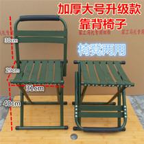 山东实木靠背马扎椅子红檀休闲户外老人马札凳原折叠便携木头包邮