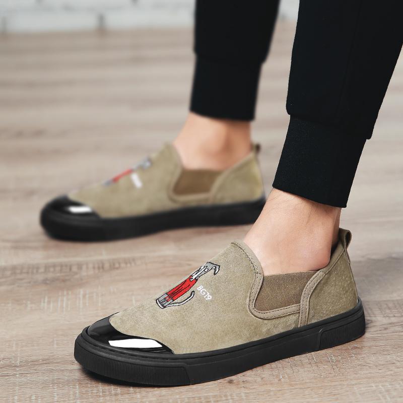 个性反绒皮驾车鞋