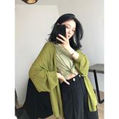 薄款 牛油果 奶茶 19SS夏季 和服开衫 FantasySkins陈嫣