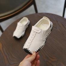 缝线中大童鞋 童鞋 儿童皮鞋 软底柏逍 男童潮英伦豆豆鞋 2018秋季新款