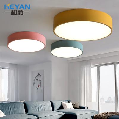 后現代北歐LED吸頂燈具客廳臥室圓形馬卡龍簡約創意個性兒童房燈雙十二