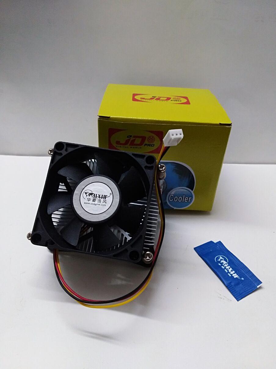老式电脑P4 cpu风扇 478针免架散热器845主板7cm风扇 孔距7.6*6CM