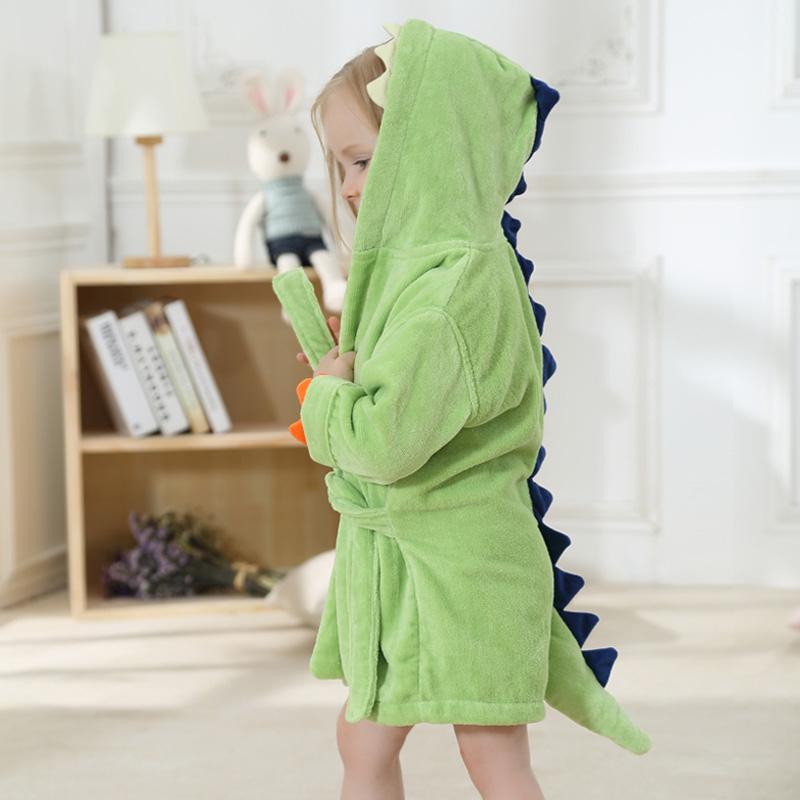 儿童卡通造型浴袍