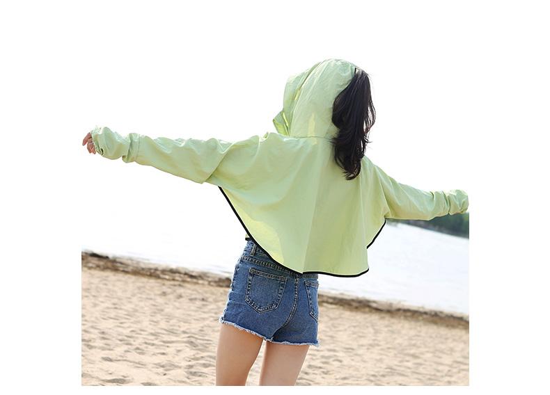 新款防晒衣男女童夏亲子空调衫透气沙滩外套骑车防紫外线带帽开衫