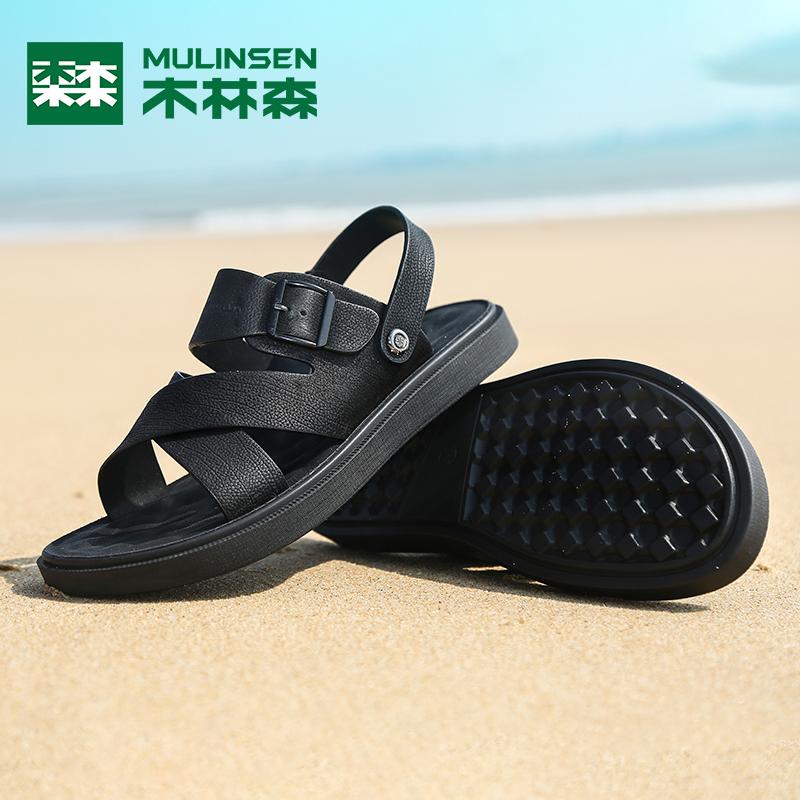 清仓 木林森男鞋新款凉鞋男潮夏季软底休闲外穿凉拖鞋男士拖鞋
