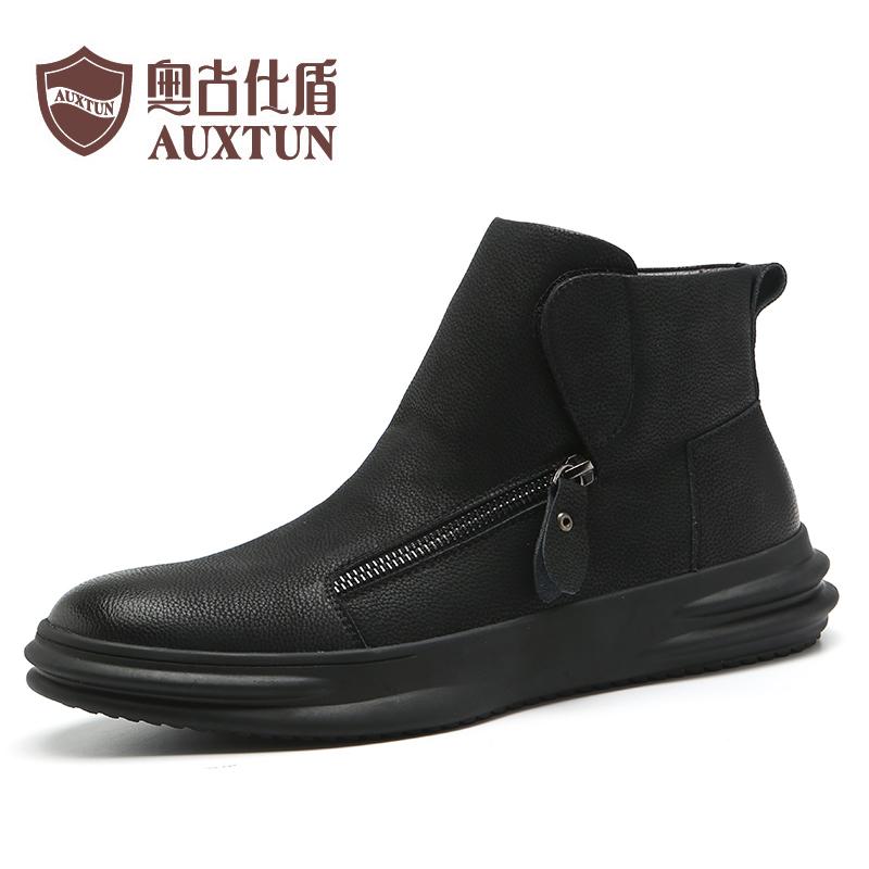 靴子男秋季马丁靴男摩托车高帮鞋男骑行板鞋男英伦靴子男高邦鞋男