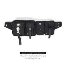 SQUD SQUADUNIDENTIFIED潮牌战术斜挎单肩包金属重工扣多袋组合包