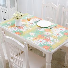 梓晨PVC餐桌布防水软质玻璃塑料加厚台布餐桌垫免洗茶几垫水晶板