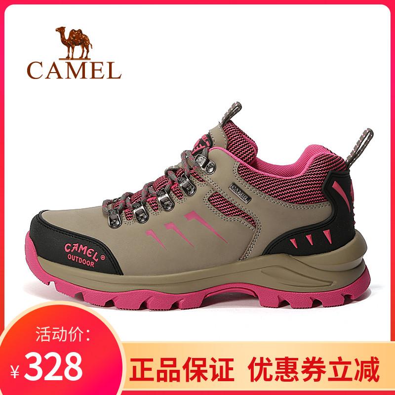 骆驼户外徒步鞋女舒适百搭潮流真皮轻便防滑旅游登山鞋A63303665