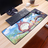 Girls cartoon cartoon cute thick large mouse pad game competitive office keyboard pad large and long lock new creative personality laptop rough surface durable pad cushion