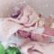 桃蜜糖原创设计网红款软萌羊毛针织肉粉色毛线麻花束发带