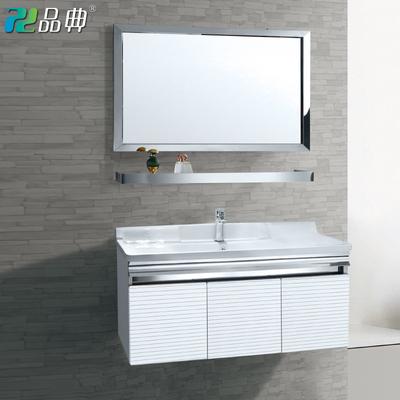 304不锈钢浴室组合柜卫浴挂壁式卫生间洗脸洗漱台洗手盆现代简约