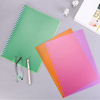 PVC binding cover porous puncher 30 hole A4 26 hole B5 color frosted cover 20 hole loose leaf core shell