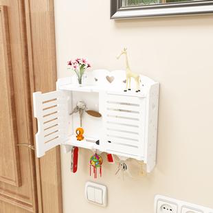 钥匙挂钩门口玄关墙壁挂置物架饰品摆件收纳盒挂衣架整理箱免打孔