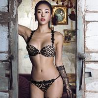2019韩国春夏新款ULLALA女士前扣美背性感聚拢内衣文胸套装小胸罩