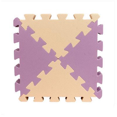 纯色素面三角形拼接地垫儿童泡沫爬行垫30*30*1.0(6片/包)