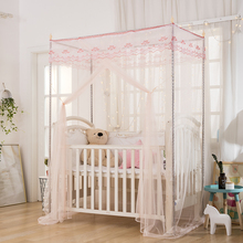 Customized baby bed mosquito net baby 88x16090190 dense dust roof and floor support child bed curtain