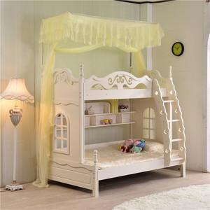子母床上下铺衣柜双层高低儿童梯柜1.2米1.5压脚伸缩蚊帐不打墙