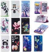 苹果6代卡通彩绘皮套 iphone6s保护套 翻盖插卡支架全包防摔软壳