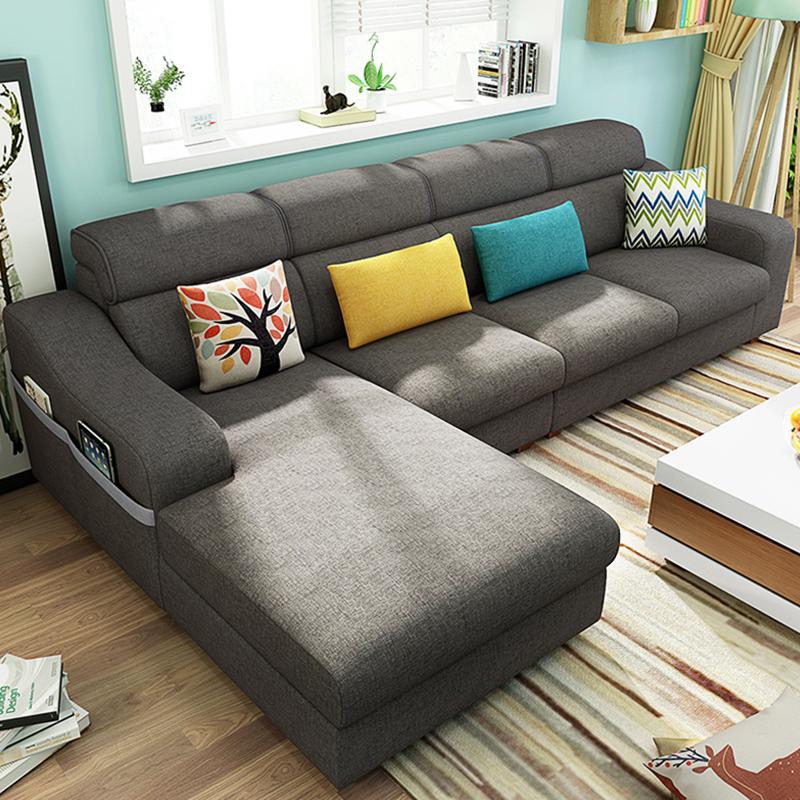 沙发简约现代客厅棉麻