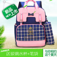Authentic school bag primary school student 1-34-6 grade cute girl school bag campus wind children's backpack Korean version of the tide