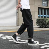 LMTNZD春季直筒裤子男士韩版宽松潮流休闲美式修身薄款工装长裤子