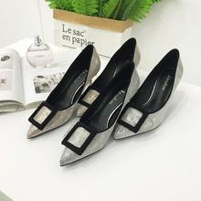 溶溶高跟鞋新款尖头法式少小清新细跟百搭2901157.26
