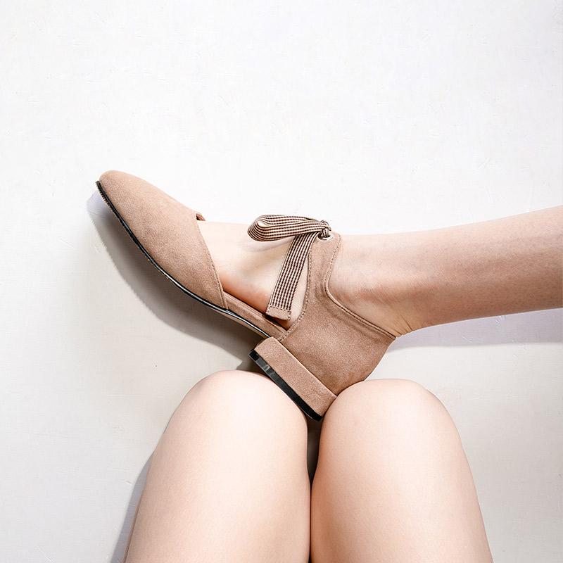 妙侣平底绑带罗马鞋女韩版2019新款低跟包头凉鞋女夏百搭仙女的鞋