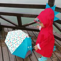 Children's raincoat girls boys kindergarten baby kids poncho zipper cartoon breathable 1-2-3-6 year old dinosaur