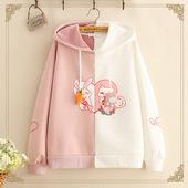12-13-14-15-16岁大童女春秋装初中学生韩版卫衣可爱兔耳朵上衣服