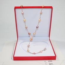 爱迪生巴洛克1012mm天然异形珍珠女毛衣链长款项链单双层佩戴