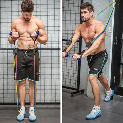 拉力绳健身男练力量训练弹力带练腹肌胸肌健身器材家用弹力绳套装2018新款
