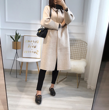 Out-of-season Loss and Outstanding Slim Princess Atmospheric Chequered Long Dual-sided Wool Wool Overcoat Woman
