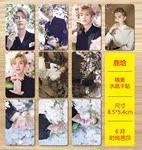 2017新款鹿晗 6月时尚芭莎 高清水晶公交卡贴一套10张包邮