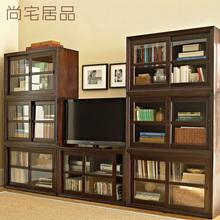 美式乡村玻璃移门组合电视柜矮柜定制上海北京美式实木家具定做