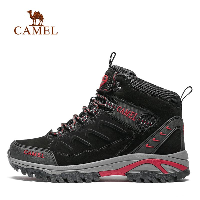 骆驼户外情侣款登山鞋 2019秋冬新款低帮防滑耐磨男女徒步登山鞋