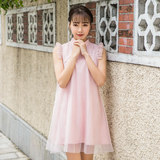 Summer new cheongsam improved version of the Chinese wind small young retro everyday girl cheongsam dress