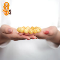 Honey Yun Xuan Pure natural amber beeswax bracelets men and women round beads chicken oil yellow 108 beads beads beeswax live